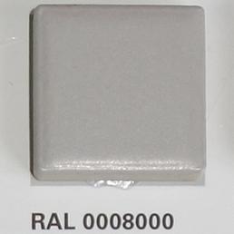 RAL 0008000, Плитка Vitra Arkitekt Color, Grey, глазурованная, глянцевая / матовая