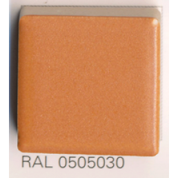 RAL 0505030, Плитка Vitra Arkitekt Color, Dark Cotto, глазурованная, матовая