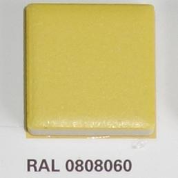RAL 0808060, Плитка Vitra Arkitekt Color, Yellow, глазурованная, матовая