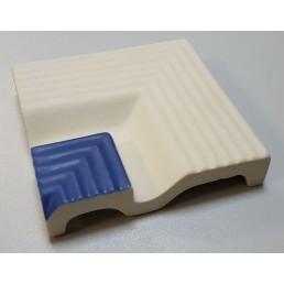 Внутренний угловой элемент рукохвата Vitra Arkitekt Pool поверхность матовая, ребристая. Край рукохвата синий RAL 5002 матовый. Водопоглощение 0.5% размер 119х119х23