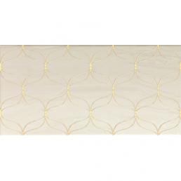 Плитка настенная Ethereal Золотой декор глянцевый 30х60 (Gold Geometric Decor L.Beige Glossy)