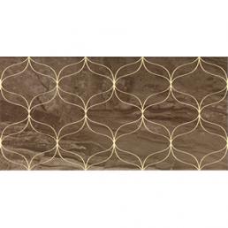 Плитка настенная Ethereal Декор Золотой геометр. Глянец 30х60 (Soft Brown Gold Geometric Decor Glossy)