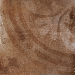Керамогранит напольный TERRA Nova Табачный Пачворк Декор 45х45 (Tobacco Patchw. Dec)