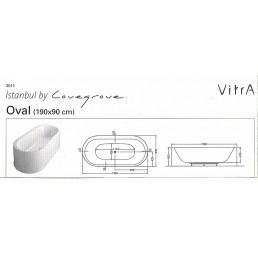 Отдельно стоящая акриловая ванна ISTAMBUL OVAL 190Х90 СМ +НОЖКИ + СИФОН - 55 000 р