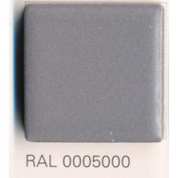 RAL 0005000, Плитка Vitra Arkitekt Color, Dark Grey, глазурованная, глянцевая / матовая
