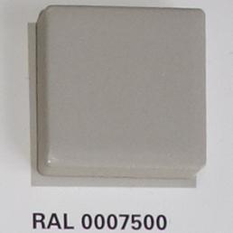 RAL 0007500, Плитка Vitra Arkitekt Color, Light Grey, глазурованная, глянцевая / матовая