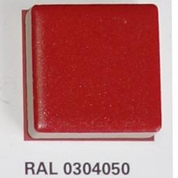 RAL 0304050, Плитка Vitra Arkitekt Color, Red, глазурованная, матовая