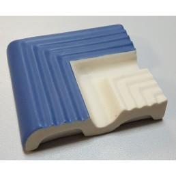 Внешний угловой элемент  рукохвата Vitra Arkitekt Pool поверхность матовая, ребристая. Край рукохвата синий RAL 5002 матовый. Водопоглощение 0.5% размер 119х119х23