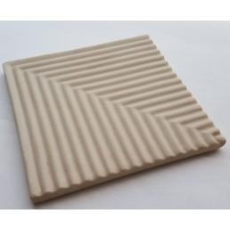 Плитка рифлённая / угловой элемент добора рукохвата  Vitra Arkitekt Pool не окрашенная, не глазурованная поверхность матовая ребристая R12 водопоглащение 0.5% размер 12.5х12.5