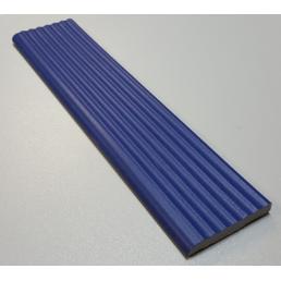 Край ступени  рифлёный с завальцованым краем Vitra Arkitekt Pool  RAL 5002 синяя поверхность матовая шершавая  R10B водопоглощение 0.5% размер 6.2х25