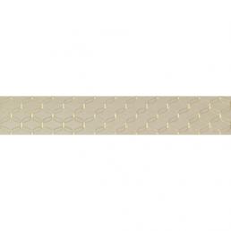 Плитка настенная Ethereal Бордюр Золотой геометр. Светло-бежевая Глянец 10х60 (Light Beige Gold Geometric Border Glossy)