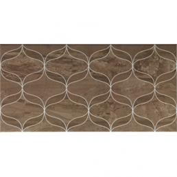 Плитка настенная Ethereal 3D Decor геом. корич. Glossy 30х60 (Soft Brown Geometric Decor Glossy)